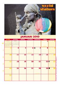 kalender World Statue Arnhem