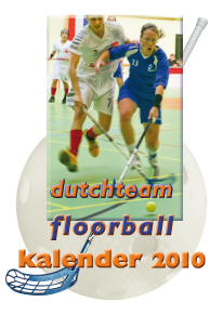 frontcover kalender Nederlands Floorballteam