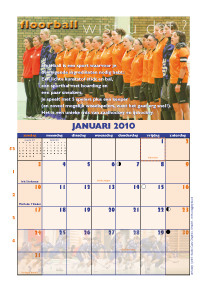 maand januari kalender 2009 Floorballteam
