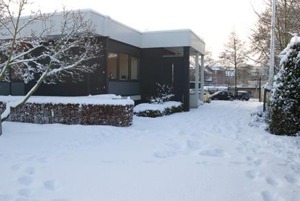 sneeuw op Jagerskade 17a