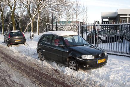 sneeuw op de Jagerskade 17a