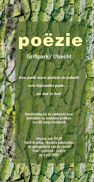 uitvouwbare-zoekposter gedichten Park Picknick Poëzie