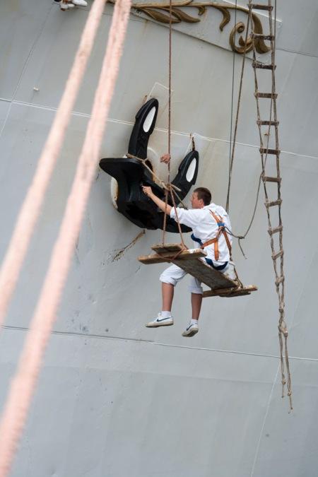 Sail Amsterdam 2010 - onderhoud anker