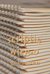 scripties of rapporten gebonden in Wire-O