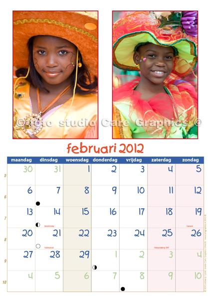 kalender  Kids Zomercarnaval 2012