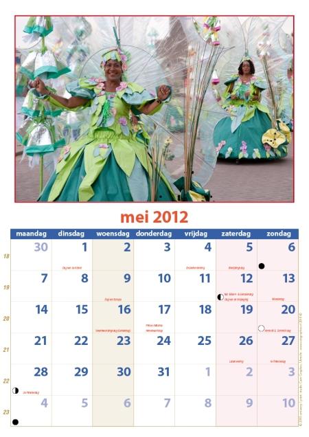 kalender Zomercarnaval 2012 mei