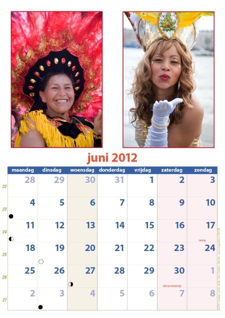 kalender Zomercarnaval 2012 juni