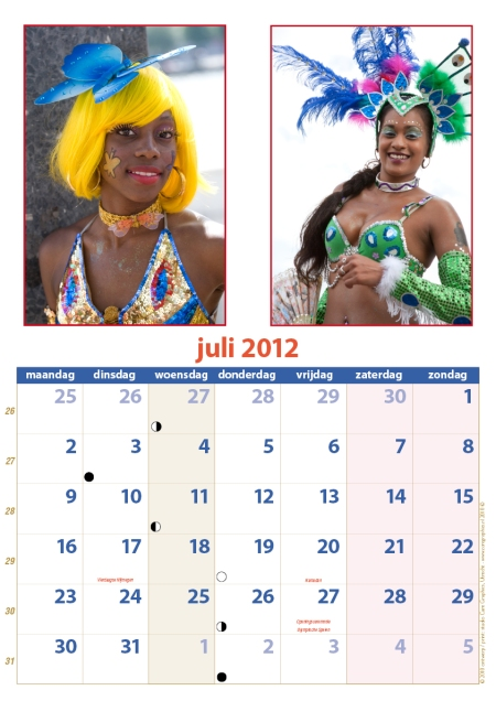 kalender Zomercarnaval 2012 juli