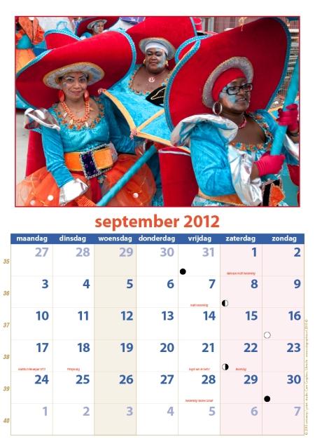 kalender Zomercarnaval 2012 september