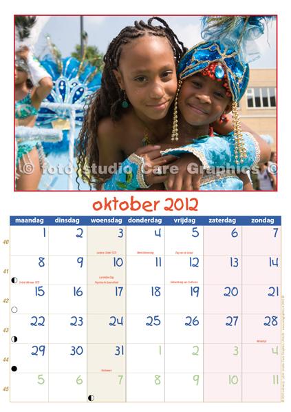 Zomercarnaval foto's en kalender 2012 maand oktober