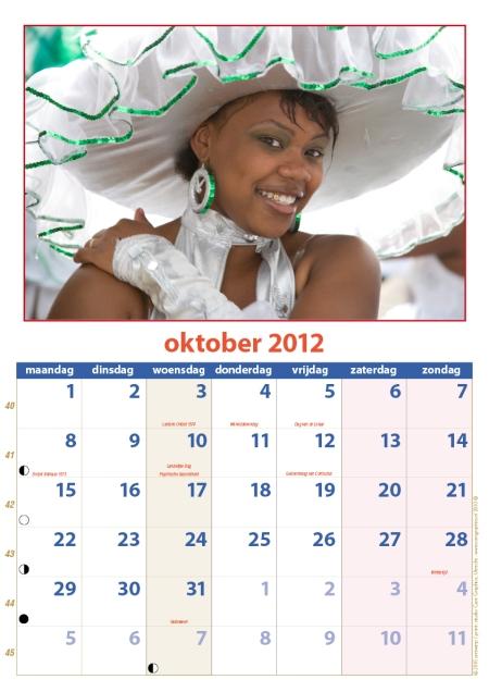 kalender Zomercarnaval 2012 oktober