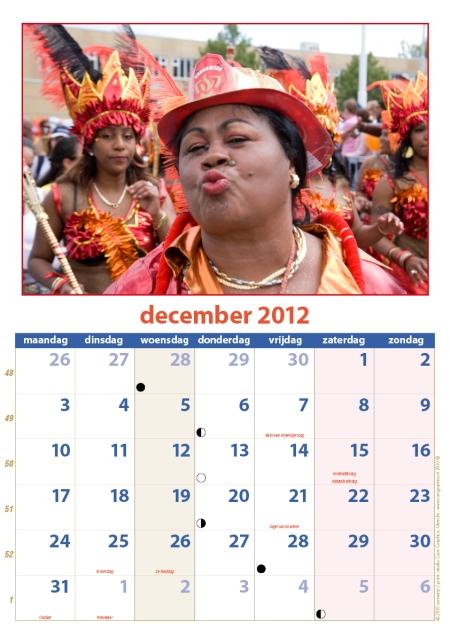 kalender Zomercarnaval 2012 december