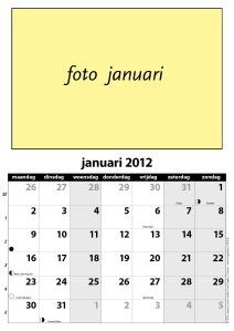voorbeeld kalender in zwart en grijstinten, geheel aan te passen