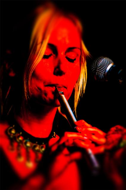 Summer Darkness 2011, Domplein Utrecht - folkband Leaf - fluit