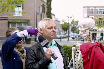 OndiepTV voor een interview met alle Ondiep-ondernemers