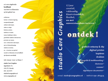 brochure studio Care Graphics, Utrecht