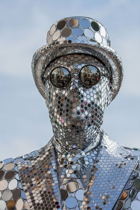 fotografie World Living Statues Festival 2014 - Arnhem - professionals - Mirror Man - Groot Brittanië