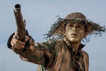 fotografie World Living Statues Festival 2014 - Arnhem - professionals - Slavery Abolition - Italië/Uruguay